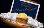Динамика курса биткоина и доллара к 2018