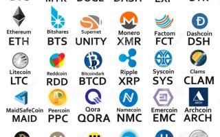 Криптовалюты: список и особенности