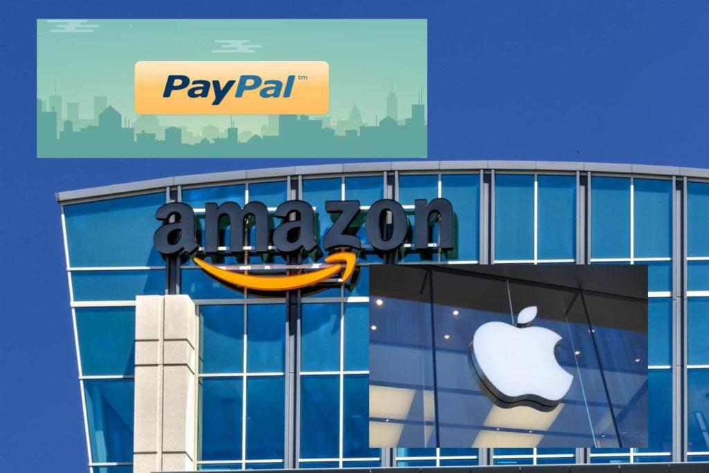 логотип amazon, paypal, apple