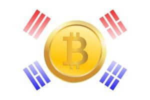 биткоин на флаге южной кореи