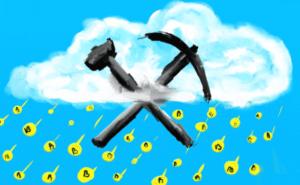 облачный майнинг каррикатура