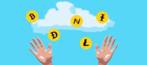 криптовалюта сыпется с облака