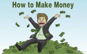 криптовалюта как заработать без вложений надпись и человек на долларах