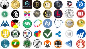 иконки разных криптовалют