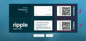 ripple бумажный wallet
